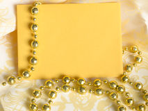 Holiday note decoration Royalty Free Stock Photo