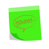 Holiday note Royalty Free Stock Photos