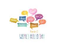 Holiday November 21 - World hello day. Royalty Free Stock Images