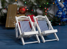 Holiday  offered  gift of Christmas Stock Photo