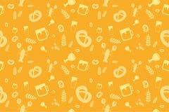 Holiday Oktoberfest Seamless Pattern Royalty Free Stock Images