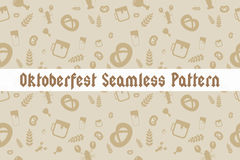 Holiday Oktoberfest Seamless Pattern Royalty Free Stock Photo