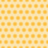 Holiday orange star seamless pattern Royalty Free Stock Photo