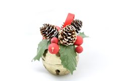 Holiday Ornament. A photo of a holiday ornament over a white background Stock Photos