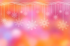 Holiday ornament on the lilac-pink background Stock Image
