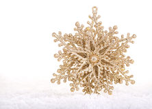 Holiday Ornament on Snow Royalty Free Stock Image