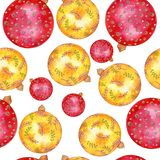 Holiday ornamental christmas ball decorations for happy new year. royalty free illustration