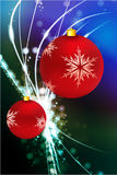 Holiday Ornaments on Abstract Modern Light Background Stock Photo