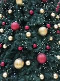 Holiday Ornaments on a Tree Stock Photos
