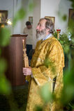 Holiday of the Orthodox Church on Pentecost Sunday in the Kaluga region in Russia on 19 June 2016. Royalty Free Stock Image