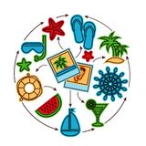 Holiday outline concept Royalty Free Stock Photography