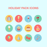 Holiday pack icons Stock Images