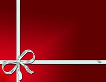 Holiday Package with Ribbon Royalty Free Stock Images