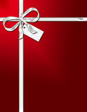 Holiday Package with Ribbon. Illustration of the top of a wrapped gift package stock illustration