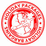 Holiday Packages Shows Fully Inclusive And Break Stock Photo
