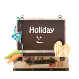Holiday, packed suitcase Stock Image