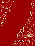 Holiday painted background (red) Royalty Free Stock Image