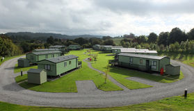 Holiday Park. Cabins in a holiday vacation park Stock Photos