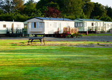 Holiday park cabins Royalty Free Stock Images