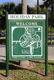 Holiday Park Welcome Sign Royalty Free Stock Images