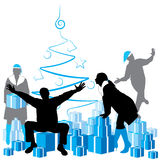 Holiday party. Christmas theme, layered and grouped illustration for easy editing Stock Photo