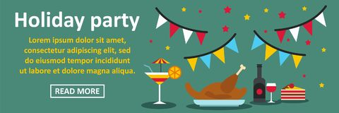Holiday party banner horizontal concept Royalty Free Stock Photography