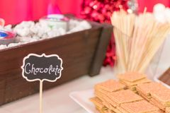 Holiday Party food dessert buffet for smores stock images