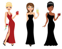 Holiday party girls Royalty Free Stock Photography