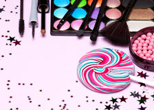Holiday party make up cosmetics Stock Image