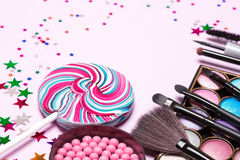 Holiday party makeup cosmetics Stock Photos