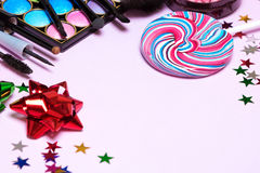 Holiday party makeup products Stock Images