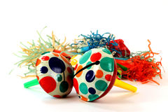 Holiday Party Vintage Tin Noise Makers Royalty Free Stock Images