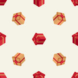 Holiday pattern with isometric boxes. Holiday pattern with two kinds of isometric boxes Stock Images