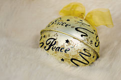 Holiday peace ornament in fur Royalty Free Stock Image