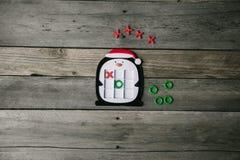 Holiday Penguin Tic Tac Toe Game stock photos