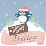 Holiday Penguin Stock Photography