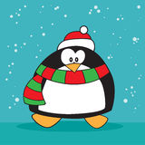 Holiday penguin weird. Holiday christmas penguin weird surprised Royalty Free Stock Photography