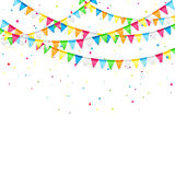 Holiday pennants Stock Images