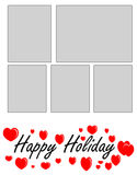 Holiday photo frame Stock Photos