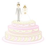 Holiday pie with bride and groom Royalty Free Stock Photo