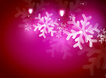 Holiday pink abstract background, winter Stock Images