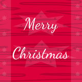 Holiday pink greeting card with Merry Christmas Stock Photography
