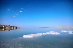 Holiday place away. Dead Sea landscape pretty clean in the summer day Royalty Free Stock Images