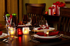 Holiday Place Setting Royalty Free Stock Images