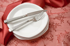 Holiday place setting Stock Image
