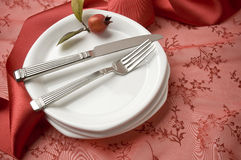 Holiday place setting Royalty Free Stock Image