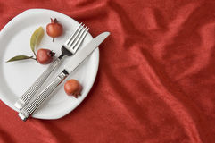 Holiday place setting Stock Photography