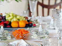Holiday place setting Stock Images