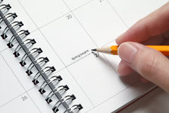 Holiday Planner Stock Image