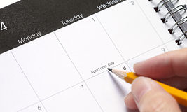 Holiday Planner Royalty Free Stock Photos